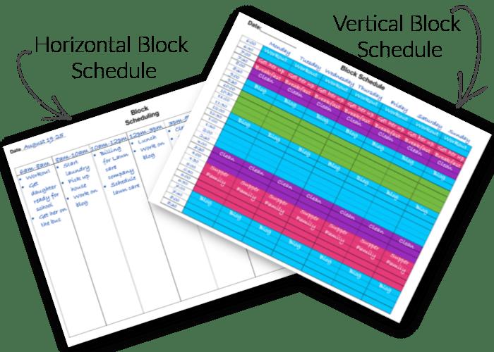 Block Schedule Examples