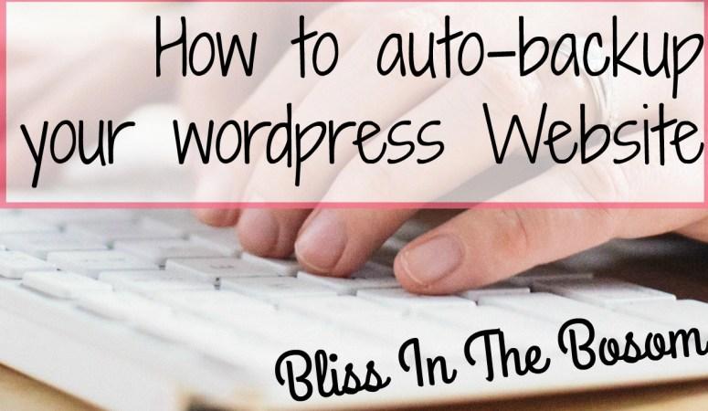 auto backup wordpress