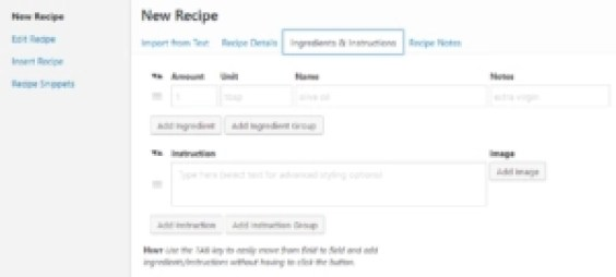 WP Recipe Maker editor wordpress recipe plugin