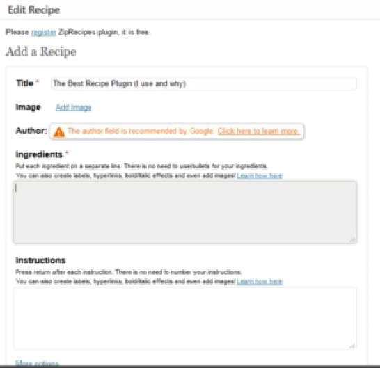 editor of ZIP recipes plugin wordpress recipe plugin