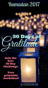 gratitude challenge Ramadan