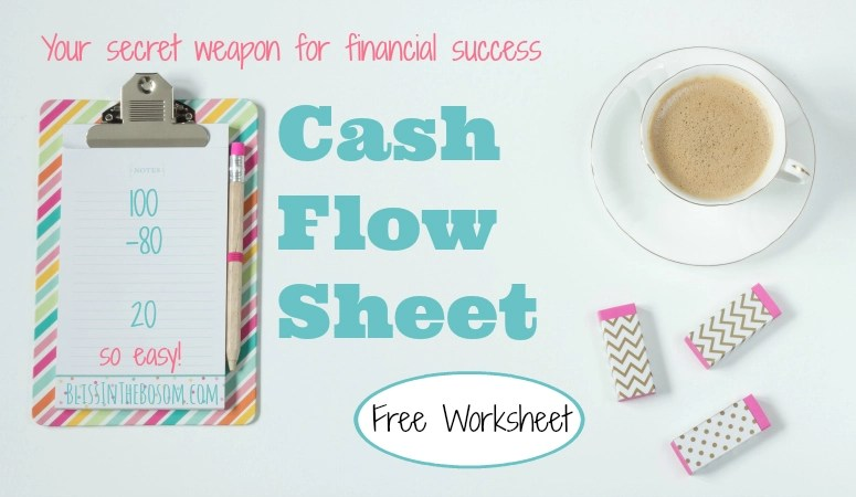 How to Easily Create a Simple Cash Flow Sheet