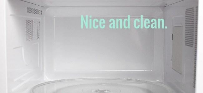 easy clean microwave