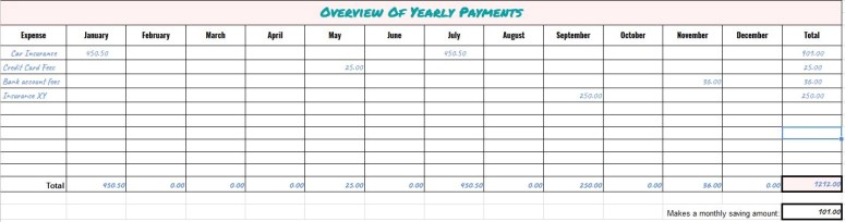 how to track seasonal payments