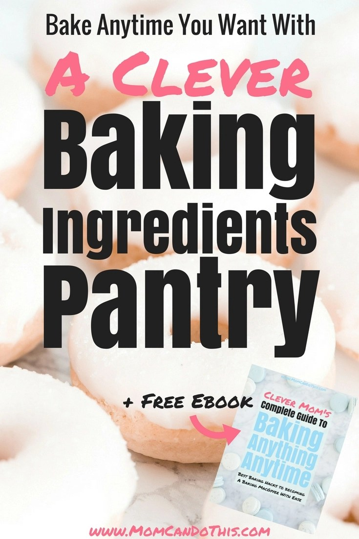 Build a baking pantry from scratch. No refrigeration needed. Download a free checklist and start creating a baking pantry with long-living baking ingredients. Read about the 12 must-have items in your baking stock. Get a free ebook to bake anything anytime you want. Click through now!
