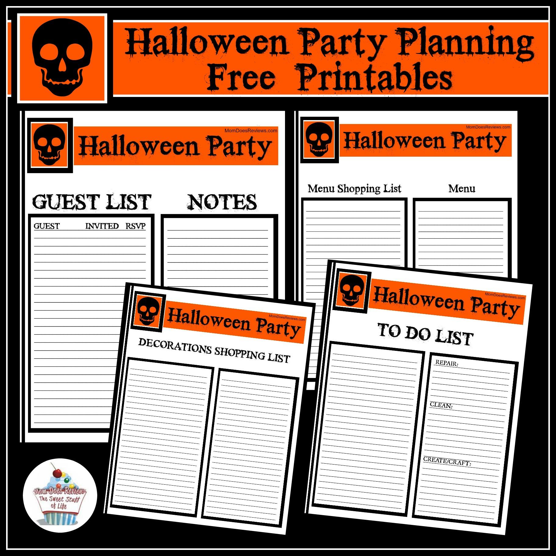 Halloween Party Planning Freeprintables