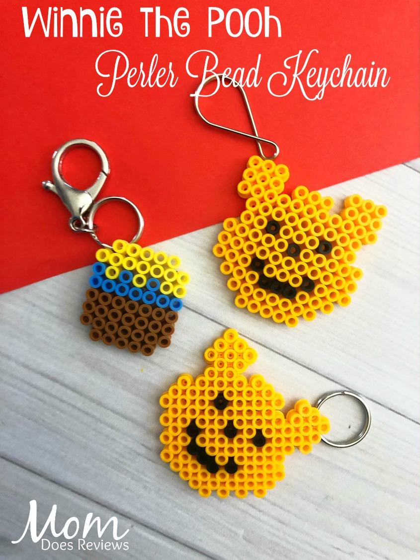 hight resolution of winnie the pooh perler bead keychain craft diy winniethepooh