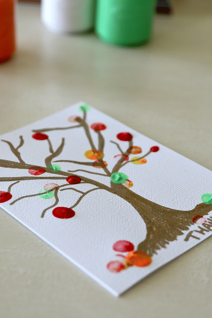 Fingerpainting A Fall Tree