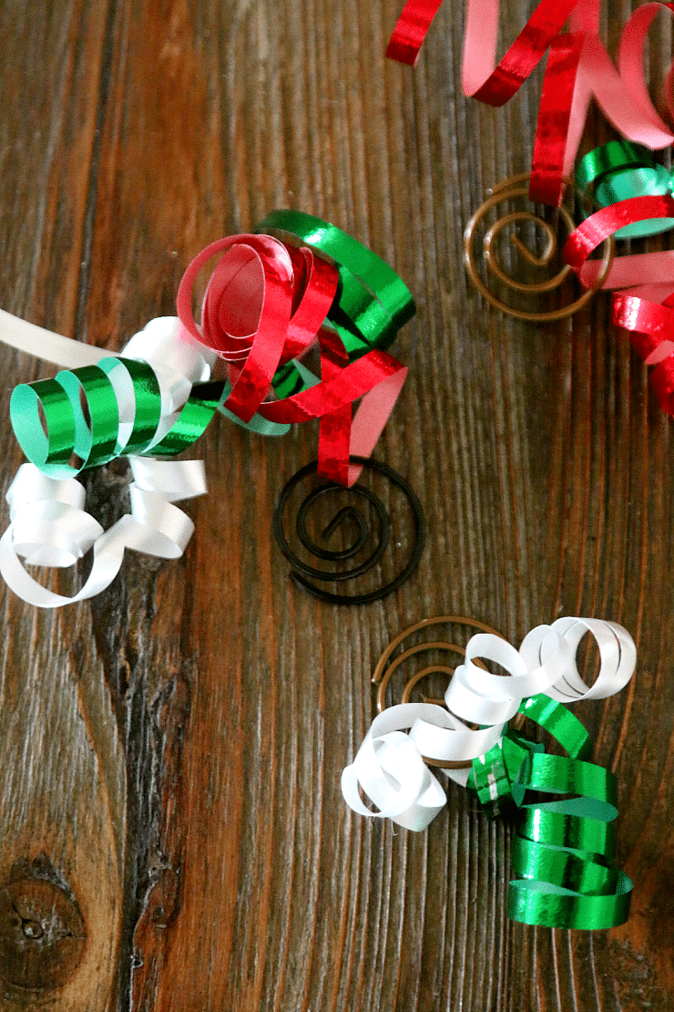 Paper Clip And Ribbon DIY Homemade Ornaments