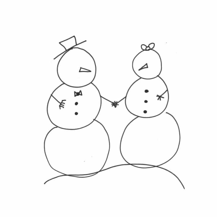 Snow Family Free Printable: Coloring Sheet