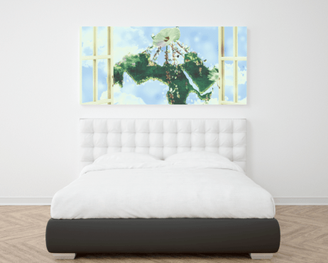 peaceful arab world bedroom wall frame poster momenarts
