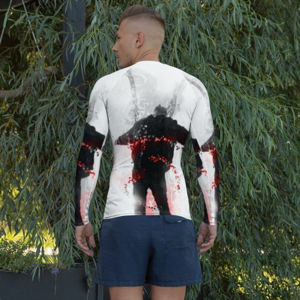 An inspiration moment – Men's Rash Guard-back
