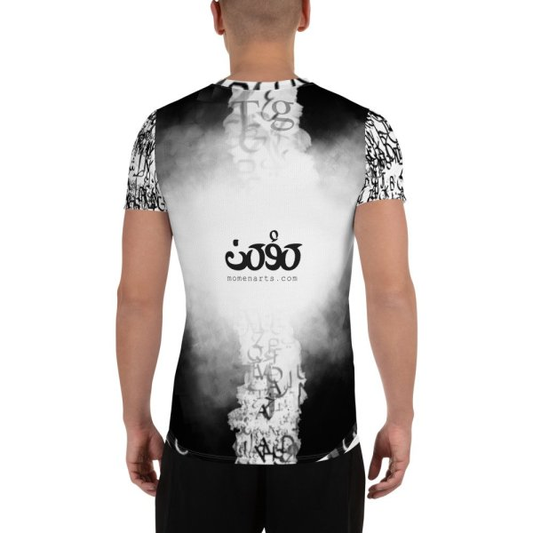 abstract typography -1 -All-Over Print Men's Athletic-02
