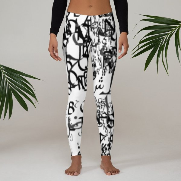 abstract typography -1 -Leggings-01