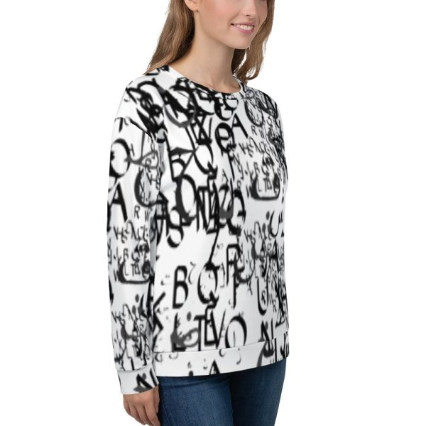 abstract typography -1 -Unisex Sweatshirt-03