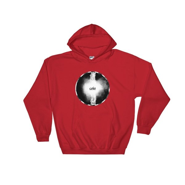 Letters fusion momenarts -Hooded Sweatshirt-red