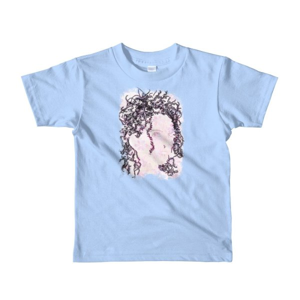 Woman Butterflies - Short sleeve kids t-shirt - Baby Blue