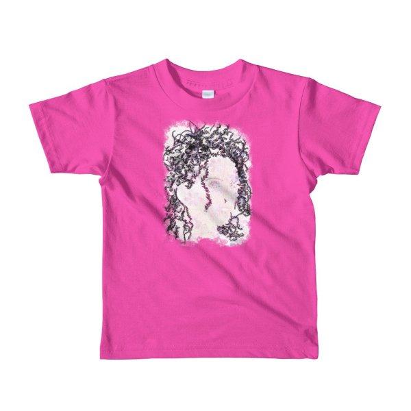 Woman Butterflies - Short sleeve kids t-shirt - Fuchsia