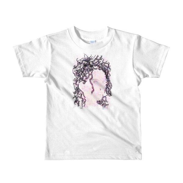 Woman Butterflies - Short sleeve kids t-shirt - White