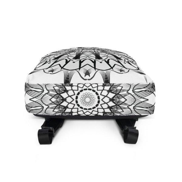 pattern mandala 01 -Backpack-black-on-white-07