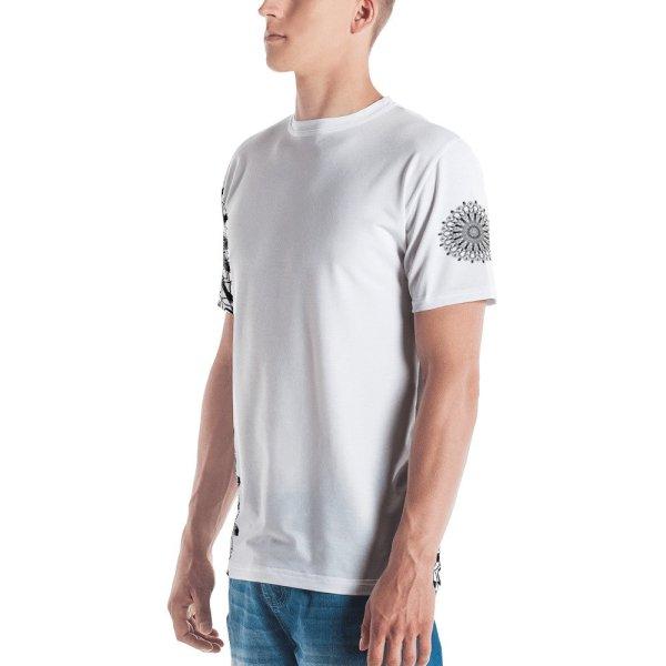 pattern mandala 01 -Men's T-shirt-black-on-white-right