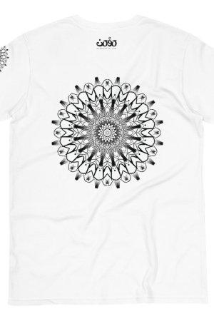 pattern mandala 01 -Organic T-Shirt-black-on-white-back