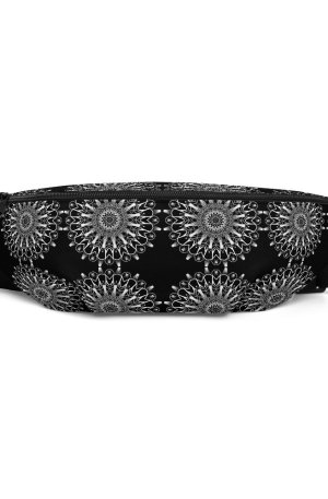 repeated pattern mandala 01 – white -Fanny Pack - 5