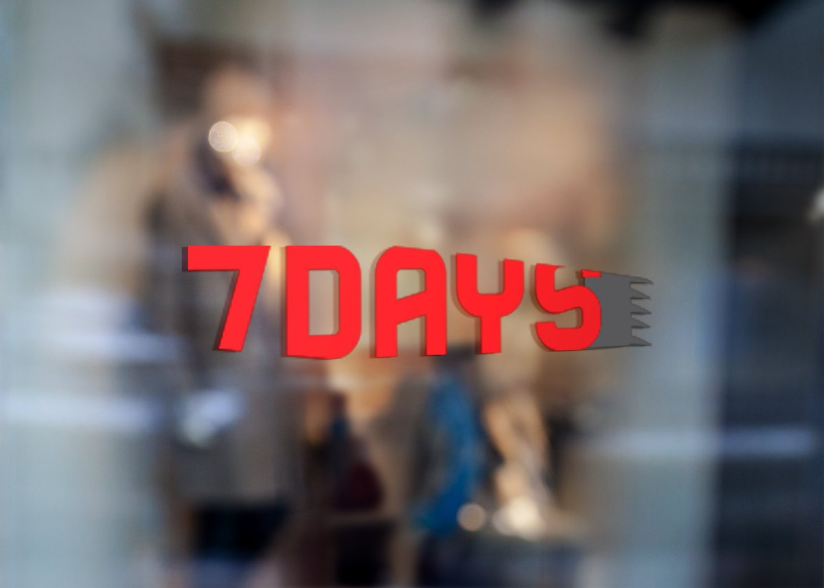 7days Window Signage