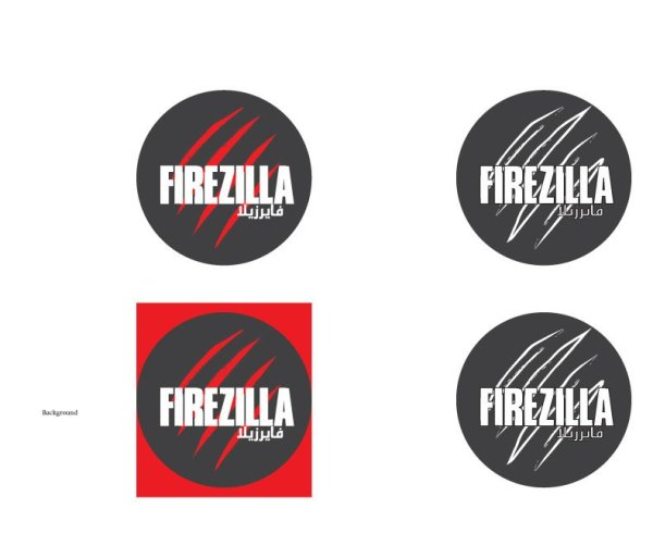 Firezilla Logo English Variations
