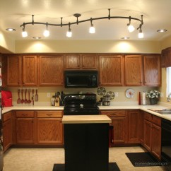 Light Fixtures Kitchen Outside Cabinets Mini Remodel  New Lighting Makes A World Of