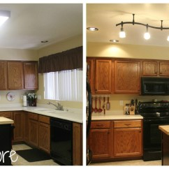 Cool Kitchen Light Fixtures Farmhouse Style Faucets Mini Remodel New Lighting Makes A World Of Difference It