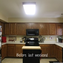 Kitchen Fluorescent Light Retro Stoves Mini Remodel New Lighting Makes A World Of Difference I