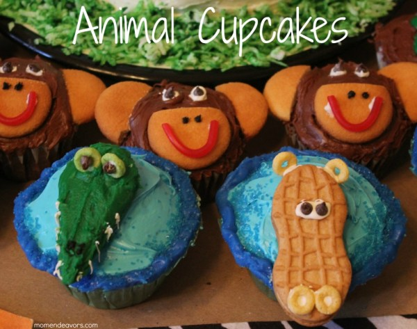 Wild Kratts Party Jungle Animal Cupcakes Directions