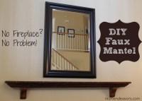 DIY Faux Mantel Shelf Install