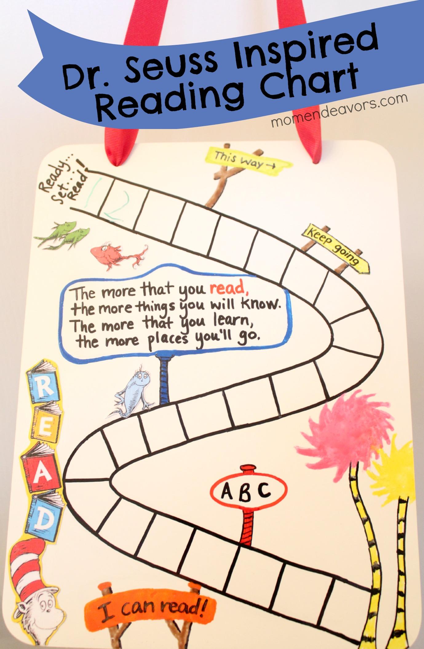 Diy Dr Seuss Inspired Reading Chart