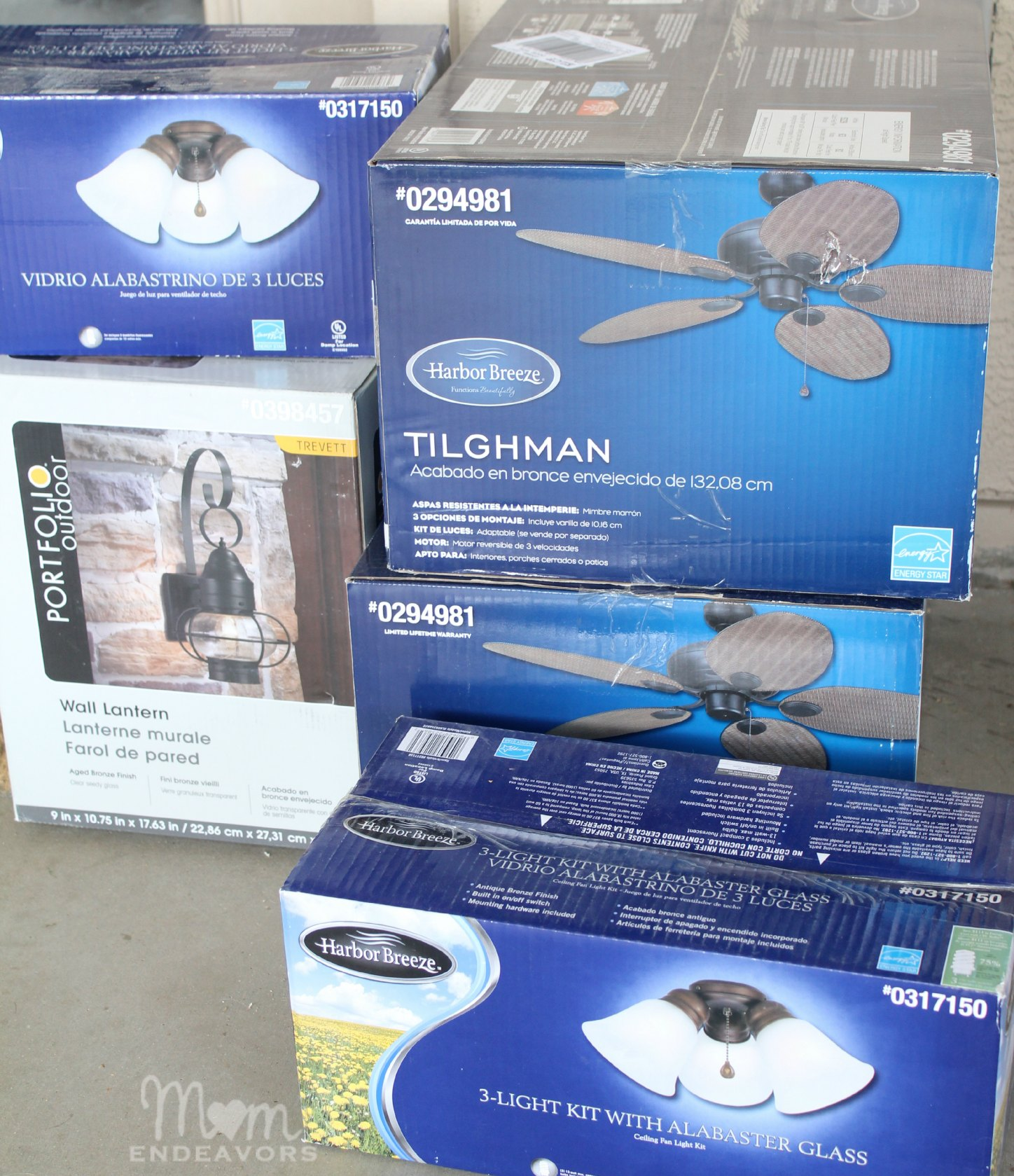 patio lighting ceiling fan makeover
