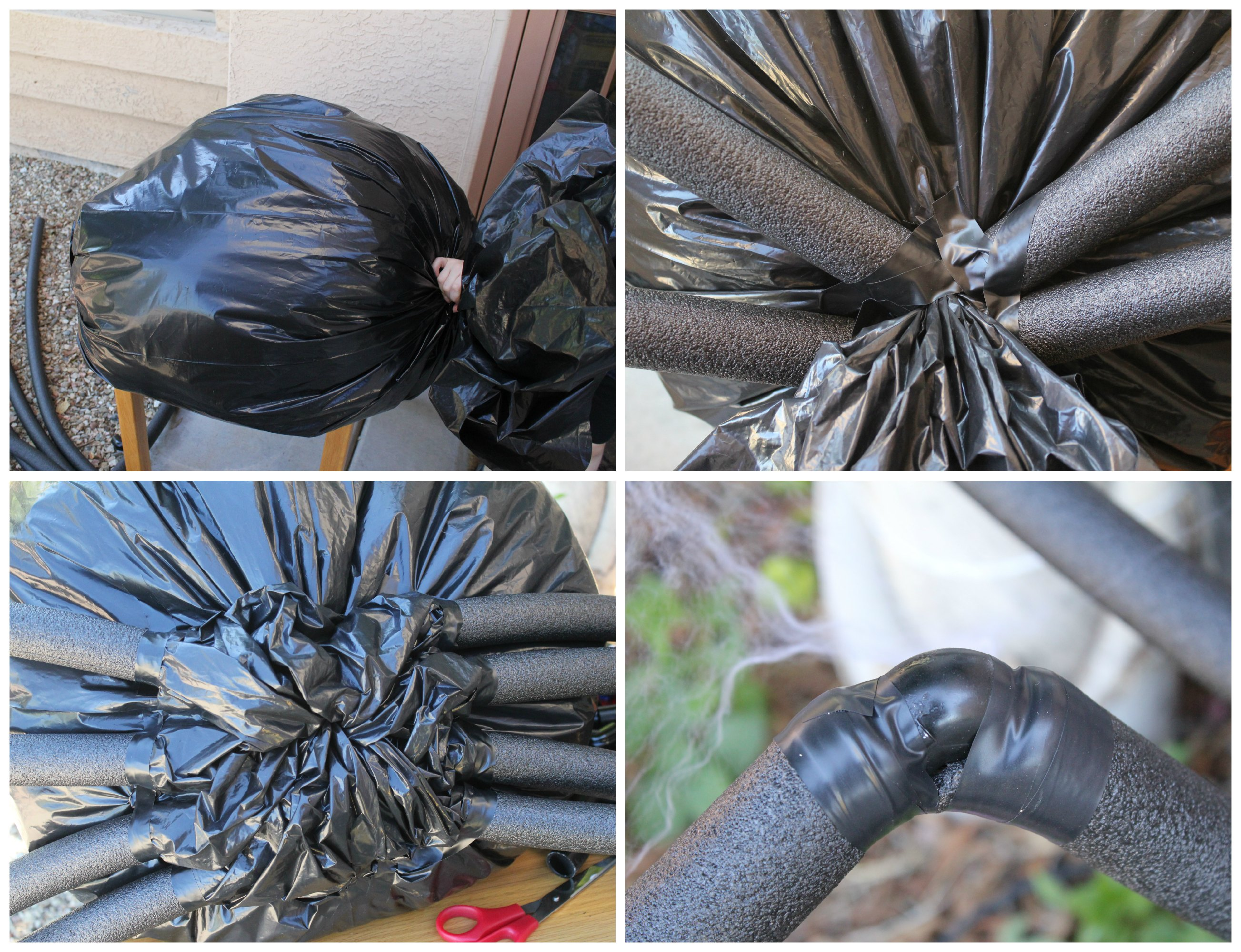 Diy Halloween Yard Decor Giant Spider In Spiderweb Mom Endeavors