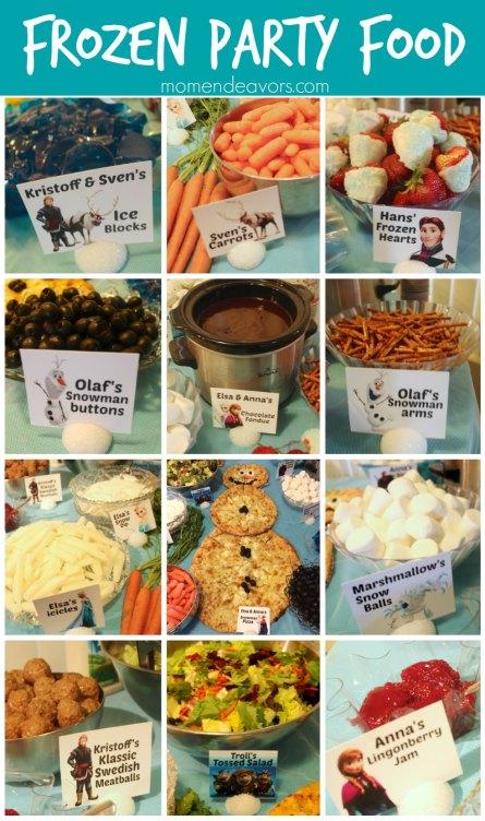 Disney FROZEN Party Food Ideas