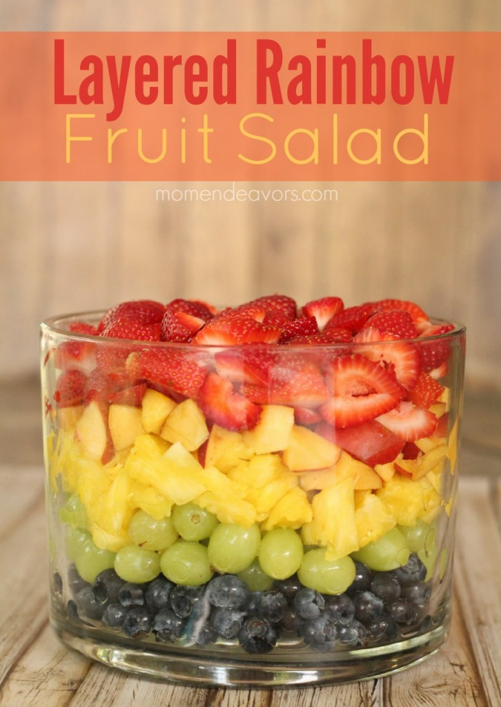Layered Rainbow Fruit Salad
