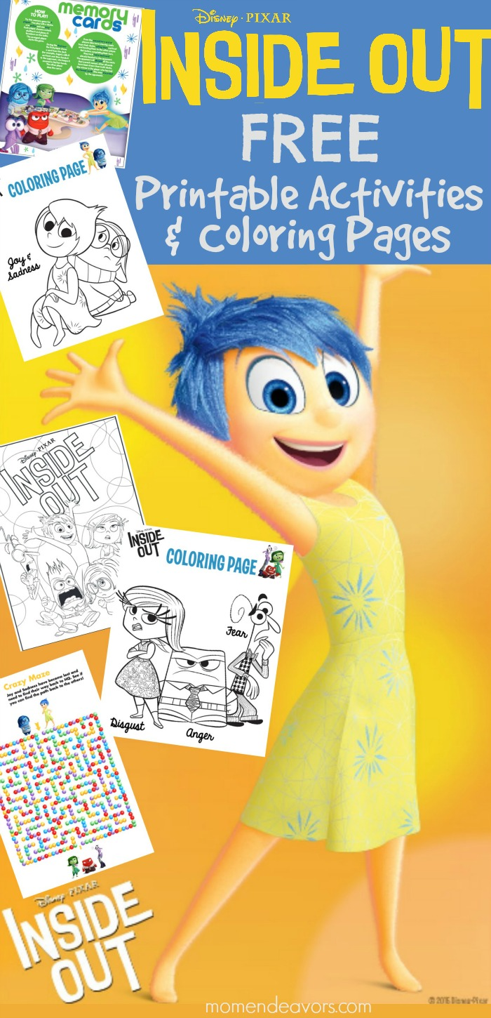 Disney Pixar Inside Out Printable Activities Coloring Pages