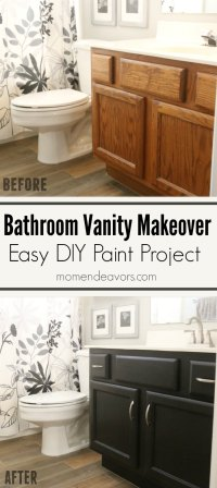 Bathroom Vanity Makeover  Easy DIY Home Paint Project