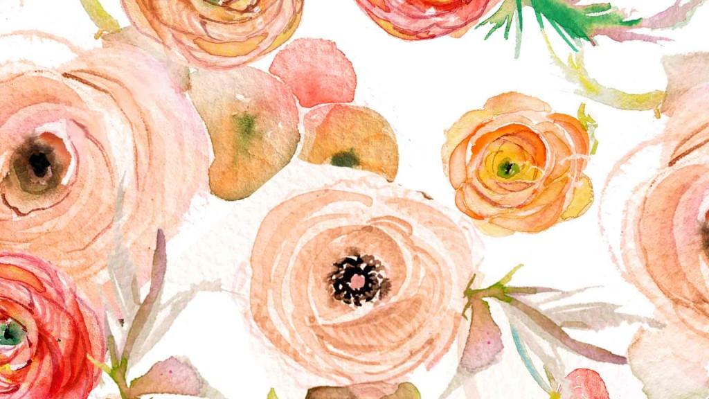 Orange Fall Peony Wallpaper Watercolor Wallpaper And Lock Screen Downloadsmomental Designs