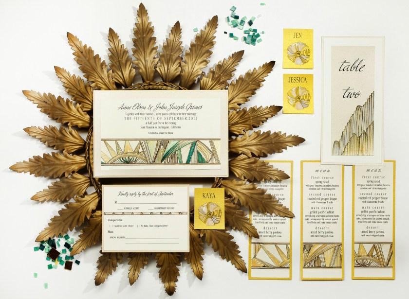 Artist Inspired Wedding Invitations Momental Designsmomental Designs Brides Monicamarmolfo Gallery