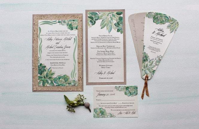 Fl Botanical Wedding Invitation Pepper And Joy2