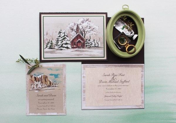 National Park Wedding Invitations-momental Designmomental