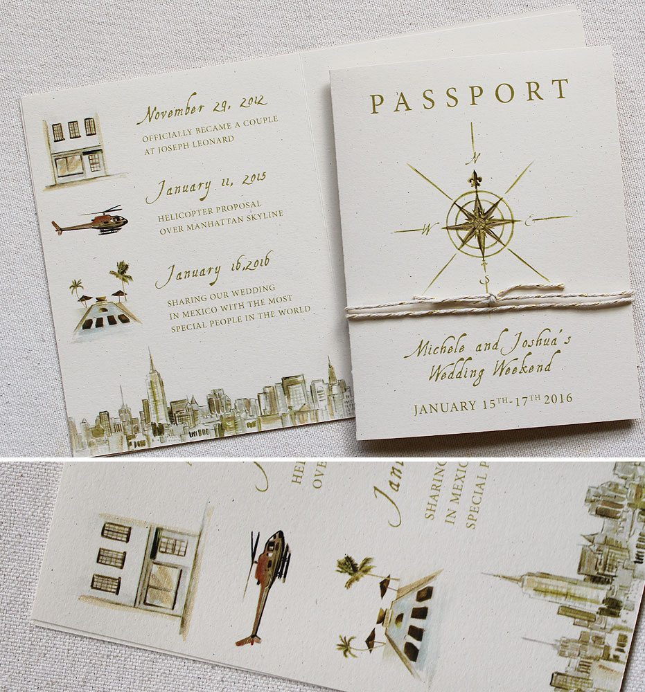 Michele G  Hand Painted Passport Wedding