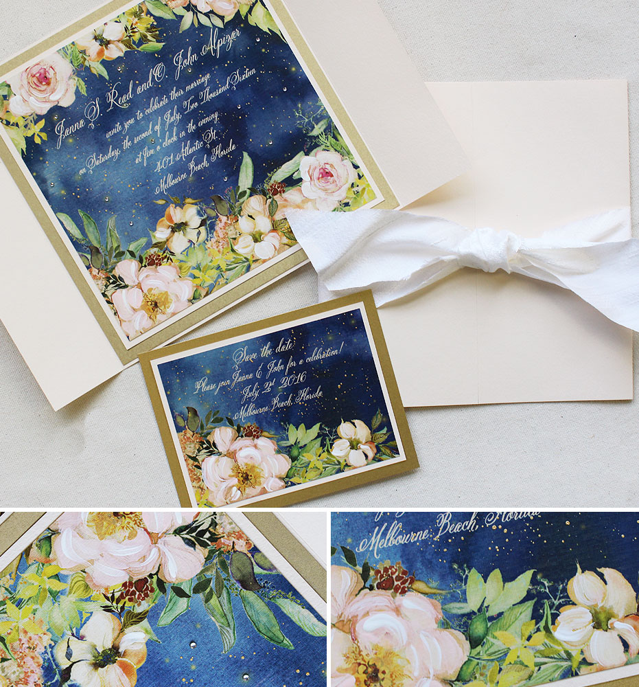 Janna R  Midsummer Nights Dream Wedding InvitationMomental Designs