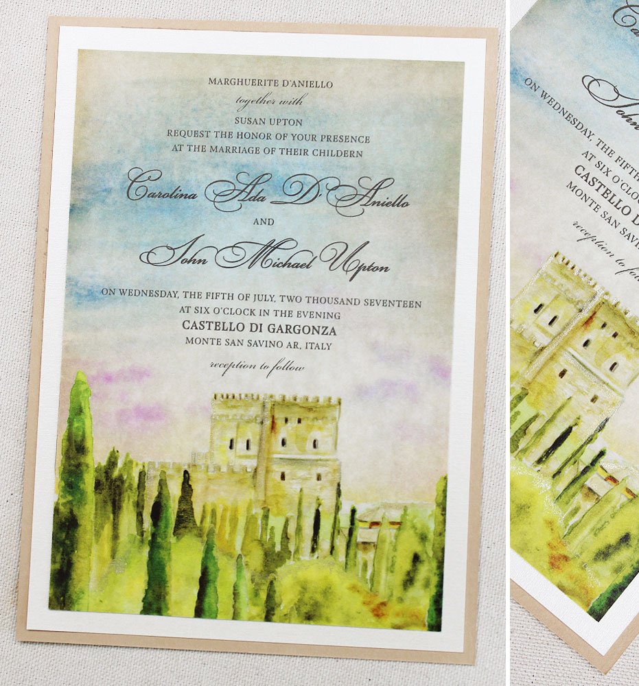 John U  Tuscany Landscape Wedding InvitationMomental Designs