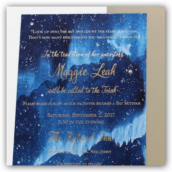 Unique Handmade Watercolor Wedding Invitations - Momental