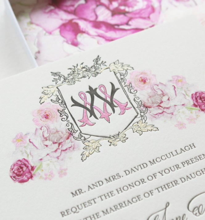 Watercolor Fl Monogram Wedding